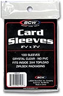 10 Packs of 100 BCW Card Sleeves - (1000 Total) Penny Sleeves - SOFT