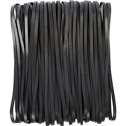 AMUU Rubber Bands Black 12inch Large 35 Pieces Heavy Duty Large Rubber Band for File folders Trash Can Band Set Elastic Bands for Office Home Supplies use Size Giant Rubbers Bands Big