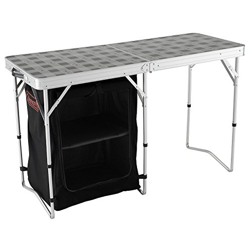Coleman 2 in 1 Camp Table and Storage Campingtisch, Silber/Grau, XL