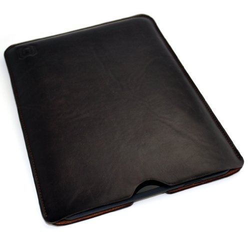 Dockem Kindle Fire HD 8 Sleeve: Synthetic Leather Dark Brown: Slim, Simple, and Professional Executive Case: Pouch Style Tablet Cover