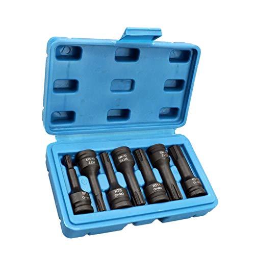7pcs Metric Socket 3/8 Drive Socket Impact Socket Bit Wrench Screwdriver