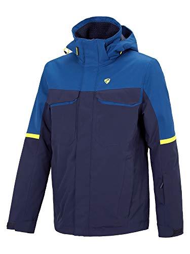 Ziener Herren TOGIAK Jacket Ski Snowboard-Jacke/Atmungsaktiv, Wasserdicht, Dark Blue, 58