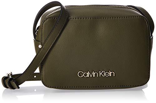Calvin Klein - Ck Must Psp20 Camerabag, Bolsos bandolera Mujer, Verde (Drk Olive), 7x12x18 cm (W x H L)
