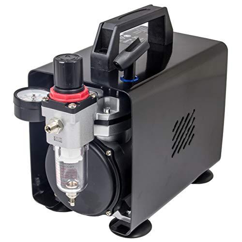 Compresor de aerógrafo Original Fengda FD-18A / regulador de presión / 4 bar/parada automática