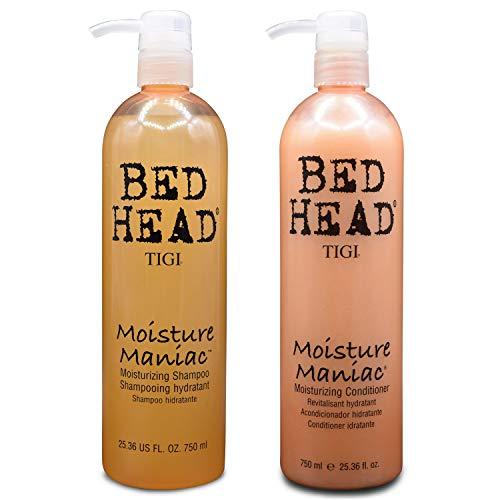 Tigi Bed Head Moisture Maniac Moisturizing Shampoo 25.36oz(750ml) & Moisturizing Conditioner 25.36oz(750ml)