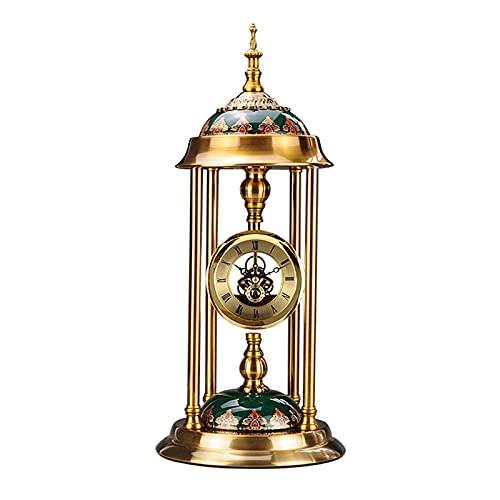 GUOQI Modern spiselklocka, dekorativ klocka, tyst urverk, keramisk dekoration, kopparpläteringsprocess, lämplig för vardagsrum, studierum, kontor, etc. A