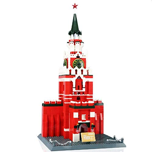 WANGE Mosca - Torre Spasskaya. Modello d'architettura da assemblare con mattoncini.