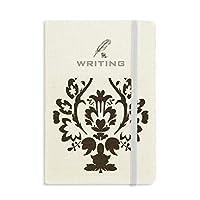 フラワーブラック並列バロック芸術のパターン ノートブッククラシックジャーナル日記A 5を書く