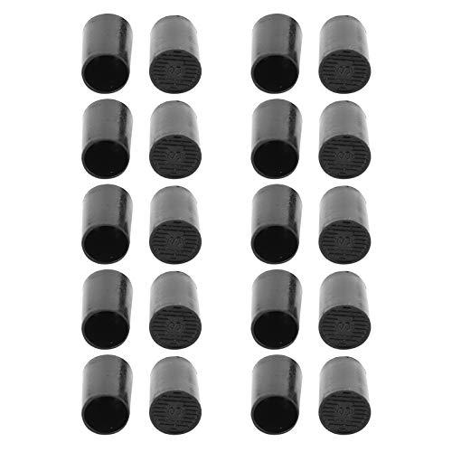 Protectores de tacón alto para reparación de talón, 10 pares de tapas de punta de tacón alto para reparación de zapatos, accesorios de repuesto (diámetro interior de 11 mm)