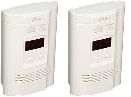 Kidde KN-COEG-3 Nighthawk Plug-in Carbon Monoxide and Explosive Gas Alarm with Battery Backup (Pack of 2), 2 Pound