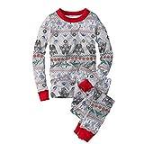 Puimentiua 2 Piezas Conjuntos de Pijamas Familiares de Navidad Traje Chandal de Ropa de Dormir Camiseta de Manga Larga y Pantalones Elasticos para Familia(Padre,L)