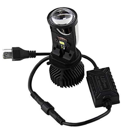 2 Piezas/Set H4 9003 Hi/Lo Beam Led Mini Lente del Proyector Car Styling Faro Lámpara De Bombillas del Automóvil 6500k 8000lm Enfocado Y6 Luz