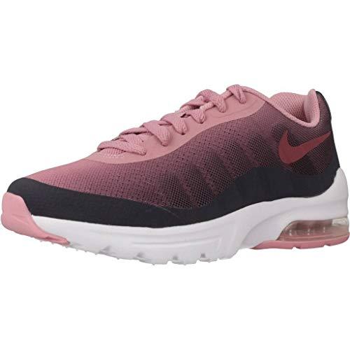 Nike Air MAX Invigor Print (GS), Zapatillas de Running Mujer, Multicolor (Gridiron/Vintage Wine/Pink 002), 38 EU