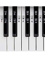 BELFORT® Klavier + Keyboard Noten-Aufkleber für 49 | 61 | 76 | 88 Tasten + Ebook | Piano Sticker Komplettsatz für schwarze + weisse Tasten | C-D-E-F-G-A-H | Einfache deutsche Anleitung