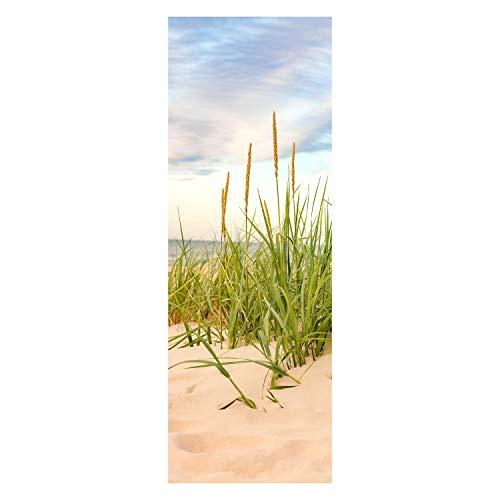 wandmotiv24 Türtapete Strand 70 x 200cm (B x H) - Dekorfolie selbstklebend Sticker für Türen, Tür-Bilder, Aufkleber, Deko Wohnung modern M0927