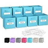 Cubes de rangement – (jeu de 8) Boite De Rangement   Comprend Des Poignées Doubles...