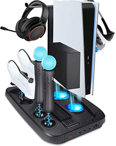 GameHome Soporte Vertical Compatible para PlayStation 5, VR Stand, Ven