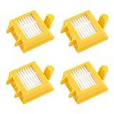 MIRTUX Kit 4 filtros compatibles con Roomba 700. Pack de repuestos de Filtro Serie 7. Recambio de reemplazo con Cuatro filtros 720, 730, 750, 760, 765, 770, 772, 776, 780, 785, 790