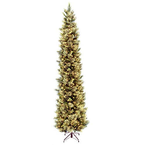 National Tree Company 'Feel Real' Pre-lit Artificial Christmas Tree | Includes Pre-strung White Lights and Stand | Carolina Pine - 12 ft