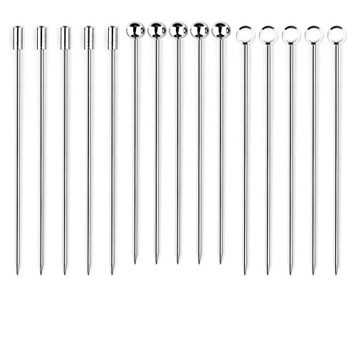 Stainless Steel Cocktail Picks (Pack of 15)