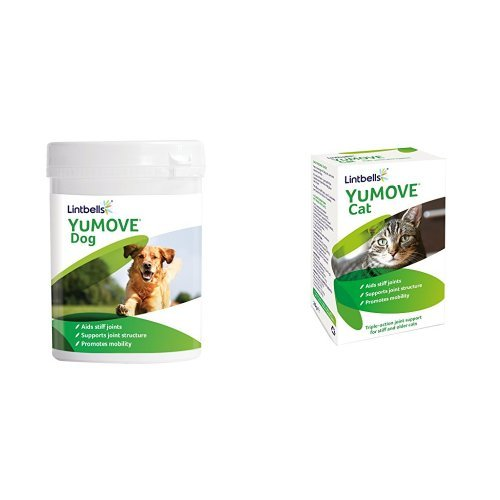 Lintbells YuMOVE Joint Supplement Packs for Stiff and Older Dogs (300 Tablets) and Cats (60 Tablets)
