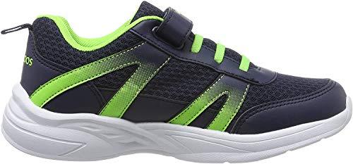KangaROOS Unisex-Erwachsene Inko EV Sneaker, Blau (Dk Navy/Lime 4054), 39 EU
