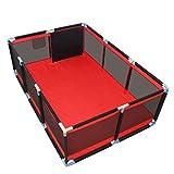 Kinderspiel Zaun Spielstall Laufstall Reisebett mit Matratze (190x128 cm)