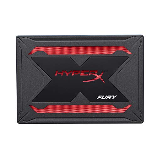HyperX Fury RGB SSD 240GB SATA 3 2.5' Solid State Drive Black Case with Multi-Color RGB SHFR200/240G
