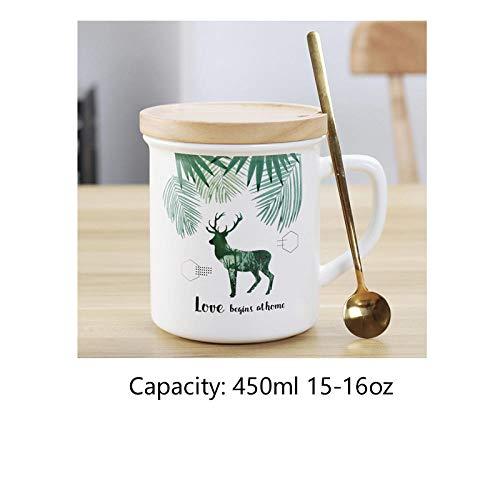 AMPLIAS TAZAS DE CAFÉ Y TÉ: ya sea que sea un entusiasta del té o del café, estas hermosas tazas cómodas harán que sus bebidas calientes sean aún más agradables de beber. Taza de cerámica esmaltada, ideal para capuchinos, espressos dobles y otras beb...