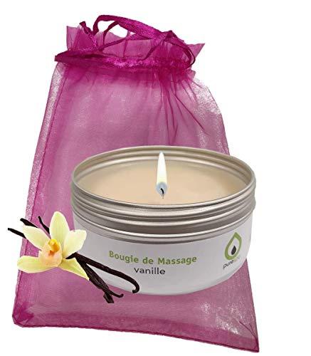 Purenail - Candela da massaggio alla vaniglia, 100% vegetale, senza parabeni, di lunga durata