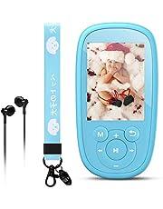 AGPTEK K2 Reproductor Mp3 Niños, Portátil MP3 Bluetooth con HD Pantalla de 2.4 Pulgada, Altavoz Interna y Radio