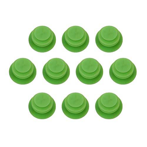 Lioobo - Tappi per estremità di bicicletta da montagna, mountain bike, strada, bicicletta, manubrio, in plastica, colore: nero, unisexo, verde, 2.7cm