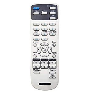 Leankle Remote Controller 1547200 for Epson Projectors EB-1840W, EB-1850W, EB-1860, EB-1870, EB-1880, EB-420, EB-425W, EB-430, EB-435W, EB-470, EB-475W, EB-475Wi, EB-480, EB-480e, EB-480i, EB-485W