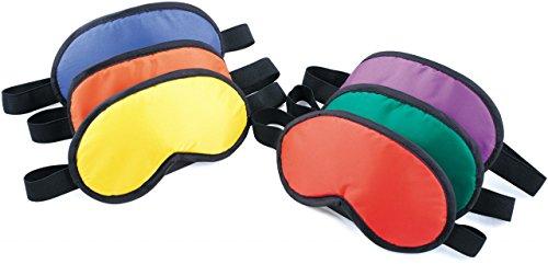 Unbekannt Augenbinden für Kinder 6er Set von SPORDAS / Nylonstoff / 100% Blickdicht / rot, gelb, orange, blau, grün, lila + schwarz / Gewicht: 450 g