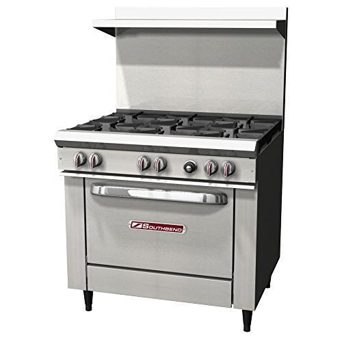 "Southbend S36D NAT 36"" Gas Range w/ 6 Burners and 1 Standard Oven"