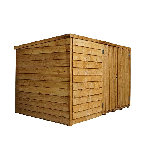 WALTONS EST. 1878 Wooden Garden Shed Bike Store 4x6 Outdoor Bicycle Storage, Pent Roof 4 x 6 / 4ft x 6ft