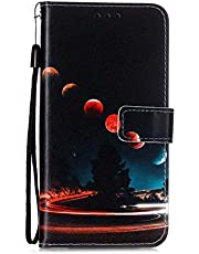 Mylne for Huawei P40 Lite Wallet Case,PU Leather Folio Flip Cover with Stand Card Slots Magnetic Closure,Galaxy