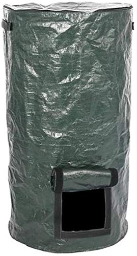Great Deal! HHQueen Compost Bag, Compost Bin Clean for Home Garden Waste Composter Grow Bag Eco Frie...