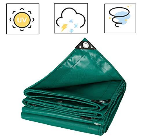 Laneetal Telone Occhiellato Impermeabile per Esterno in PVC 500g/m² Bordo Rinforzato Telo di Copertura per Mobili Giardino 3x4m, Verde 0930149