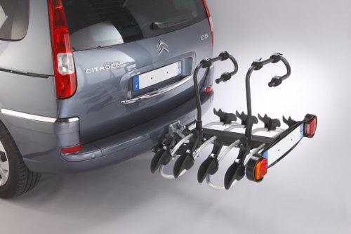 Mottez A018P4RA Fahrradträger auf Anhängerkupplung - 4 Fahrräder – Premium Plattform