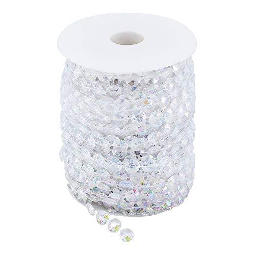 ShawFly 30M acrílico transparente gema cuentas de cristal decoración del árbol de...