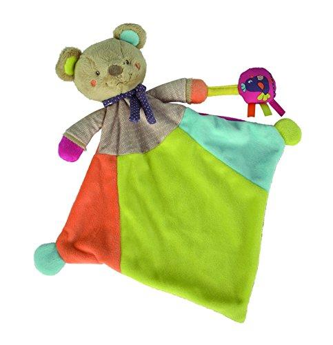 Simba 6305793596 - Nicotoy Baby Schmusetuch Bär Gary 45 cm bunt