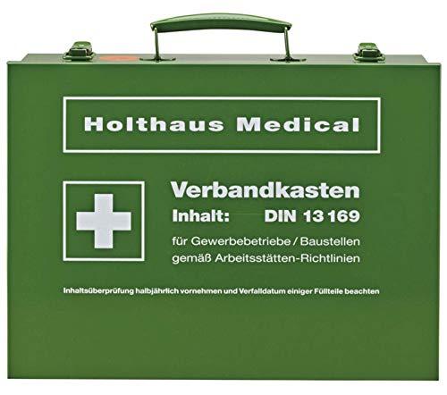 Betriebsverbandkasten DIN 13169-E Verbandskasten groß Stahlblech grün Metall von MBS-FIRE®