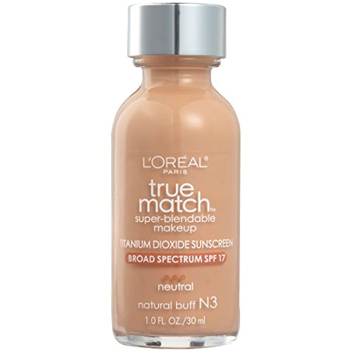 L'Oreal Paris Makeup True Match Super-Blendable Liquid Foundation, Natural Buff N3, 1 Fl Oz,1 Count