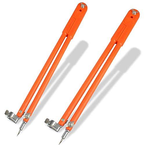 Holzbearbeitung Kompass Caliper Divider 2Pcs Mit Bleistifthalter,Stahl Flat Leg Divider Für Carpenter Geometry,Zeichnen,Zeichnen