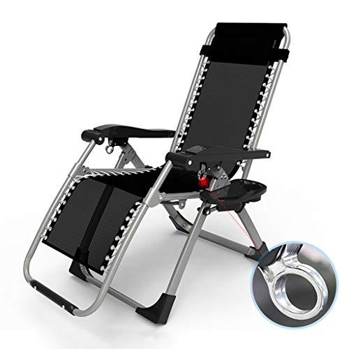 Patio Zero Gravity Chaise Extérieure Réglable Pliant Verrouillage Chaises Longues Camp Lit De Camp Simple Bureau Siesta Lit Textoline (Couleur : Chair(Metal lock)+cushion a)