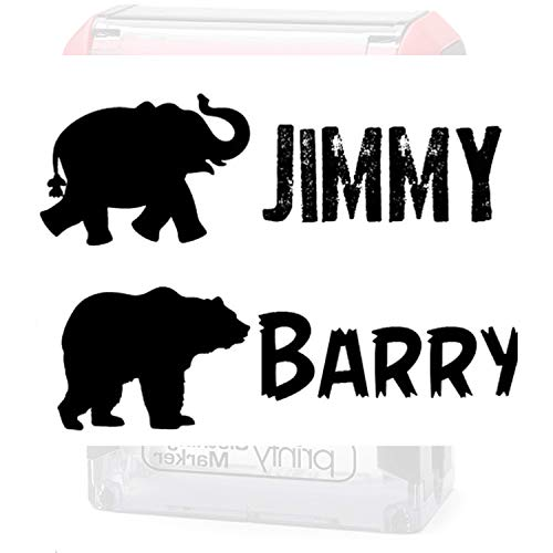 Pick Your Animal � Clothing Stamp Label Custom. Stamp Your Clothes with Your Custom Name. Great for Kids T-Shirts Clothing Stamp Personalized. 1 or 2 Line Stamper. Stamp Your Name on Clothes. Animal