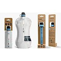 Purificador de agua portátil Faircap Mini - Filtra el 99.99% de las bacterias y otros patógenos - Ideal para viajes, caminatas, campamentos y deportes de aventura - Para botellas de PET de 28 mm.