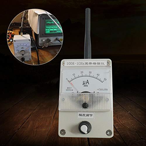Zephyri Tragbare Feldstärkeanzeige, Feldstärke-Indikator Messgerät 100K-1000MHz Feldstärke Field Strength Indicator Meter Antenne RF Signal Level Meter