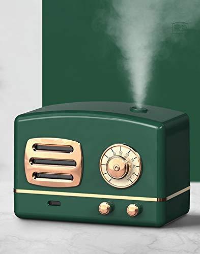Humidificador Retro USB 200Ml difusor de Aceite Esencial humidificador lámpara de aromaterapia con luz Colorida para Coche/hogar/Oficina Verde